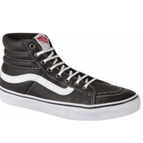 7f3b0ff94938 Vans Shoes - Vans Women s Sk8-Hi Slim Leather Hi-Top Trainers